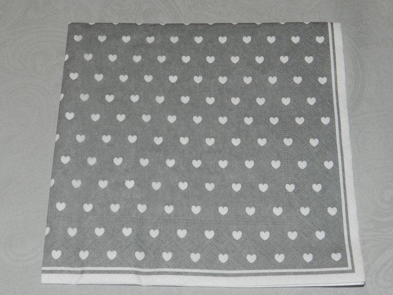 servietten herz grau 33x33cm ib laursen speicher und scheune. Black Bedroom Furniture Sets. Home Design Ideas